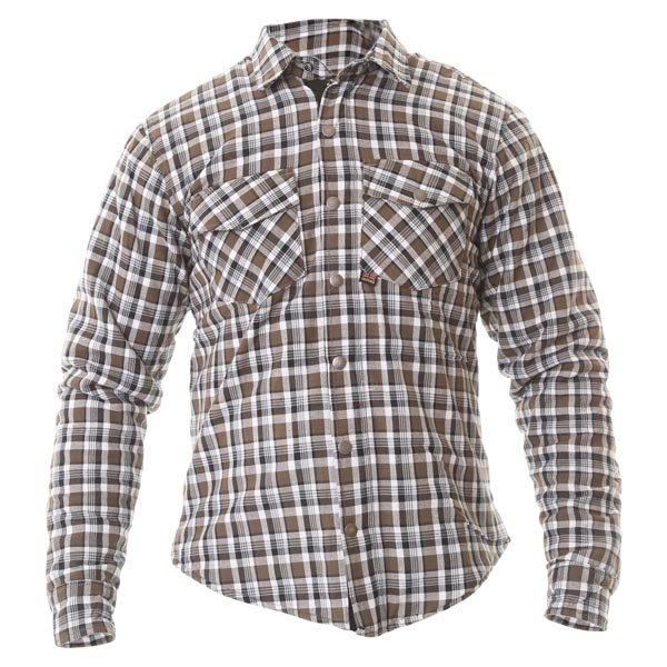 Kickback Checker Shirt Khaki White