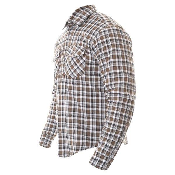 Oxford Products Kickback Checker Khaki White Shirt Side