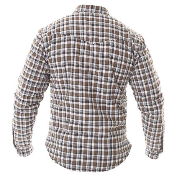 Oxford Products Kickback Checker Khaki White Shirt Back