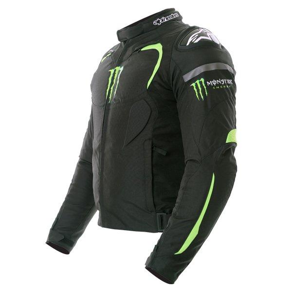 Alpinestars Backfire Mens Black Green Textile Motorcycle Jacket Side