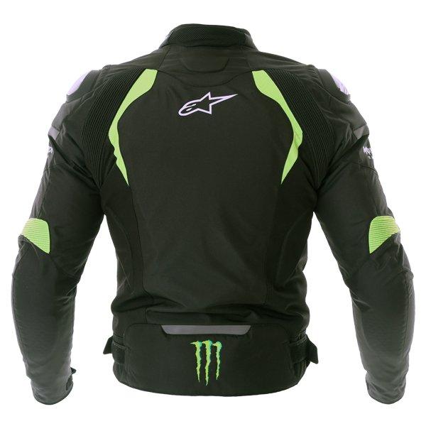 Alpinestars Backfire Mens Black Green Textile Motorcycle Jacket Back