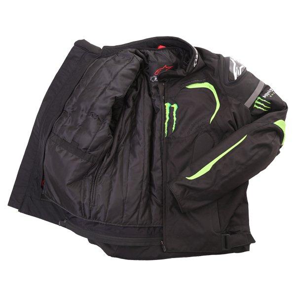 Alpinestars Backfire Mens Black Green Textile Motorcycle Jacket Inside