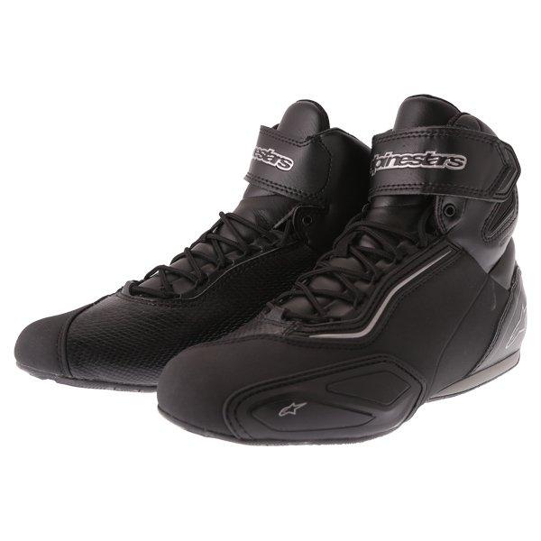 Alpinestars Stella Faster 2 Black Gun Waterproof Motorcycle Shoes Pair
