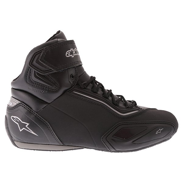 Alpinestars Stella Faster 2 Black Gun Waterproof Motorcycle Shoes Outside leg