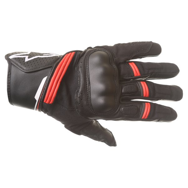 Alpinestars Booster Black Red Motorcycle Glove Back