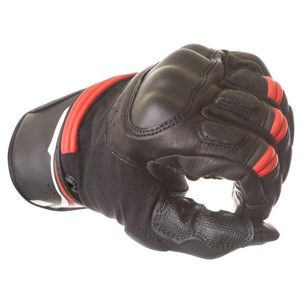 Alpinestars Booster Black Red Motorcycle Glove Knuckle