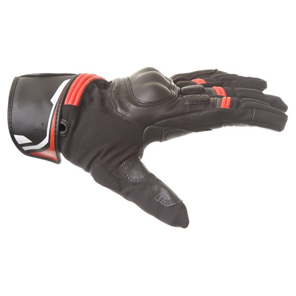 Alpinestars Booster Black Red Motorcycle Glove Thumb side