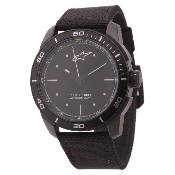 Alpinestars Black White 3H Tech Watch with Black Nylon Strap