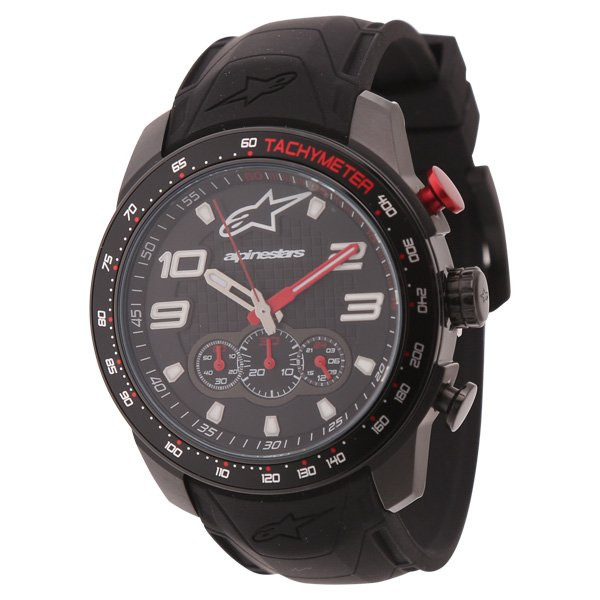 Alpinestars Tech Watch Chrono with Black Silicon Strap
