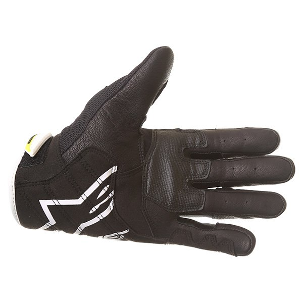 Alpinestars SMX-2 Air Carbon V2 Black White Fluo Yellow Motorcycle Gloves Palm