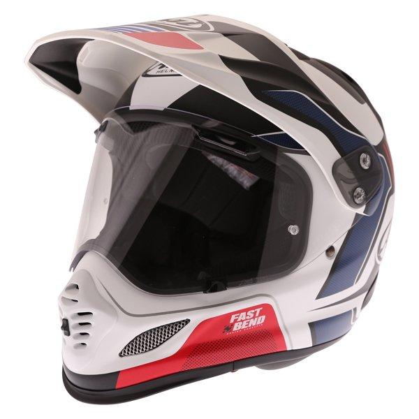 Arai Tour-X 4 Vision White Black Red Adventure Helmet Front Left