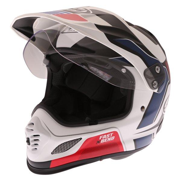 Arai Tour-X 4 Vision White Black Red Adventure Helmet Open Visor