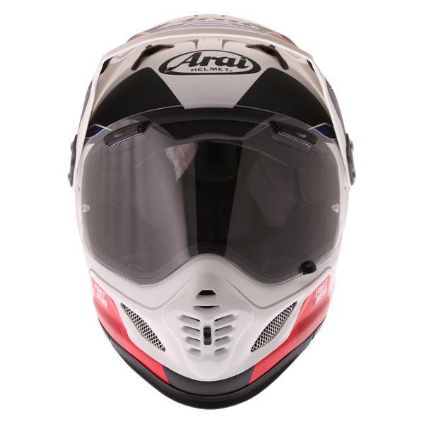 Arai Tour-X 4 Vision White Black Red Adventure Helmet Front