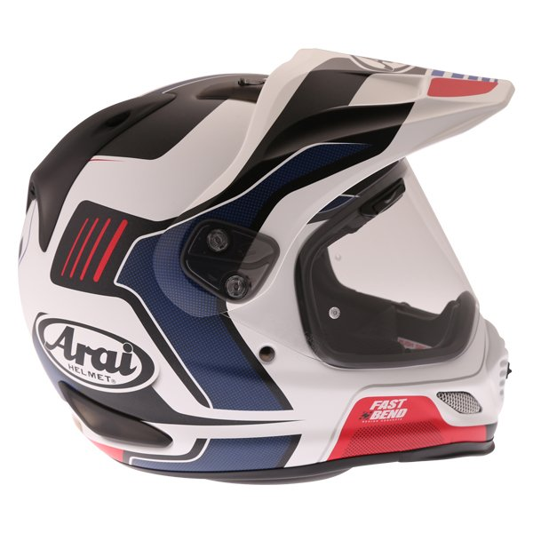 Arai Tour-X 4 Vision White Black Red Adventure Helmet Right Side