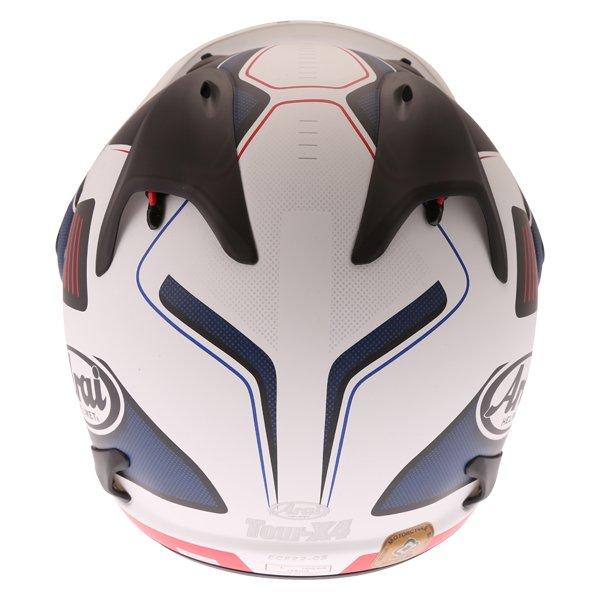 Arai Tour-X 4 Vision White Black Red Adventure Helmet Back