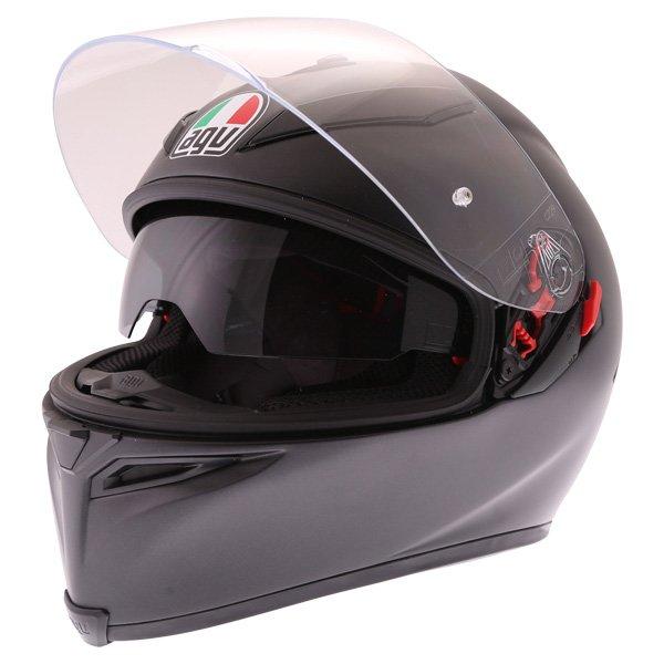 AGV K5-S Matt Black Full Face Motorcycle Helmet Open With Sun Visor