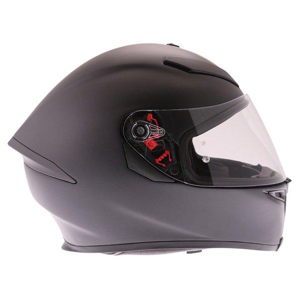 AGV K5-S Matt Black Full Face Motorcycle Helmet Right Side
