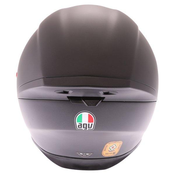 AGV K5-S Matt Black Full Face Motorcycle Helmet Back