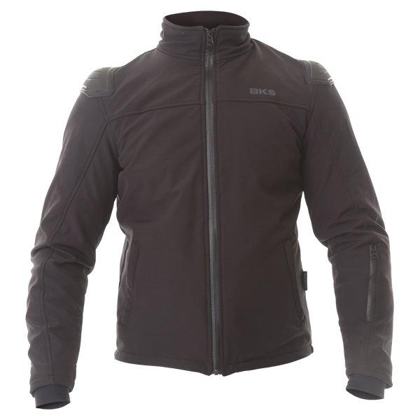 BKS Soft Shell Mens Black Textile Motorcycle Jacket Front