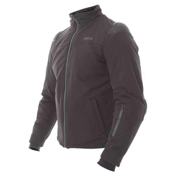 BKS Soft Shell Mens Black Textile Motorcycle Jacket Side