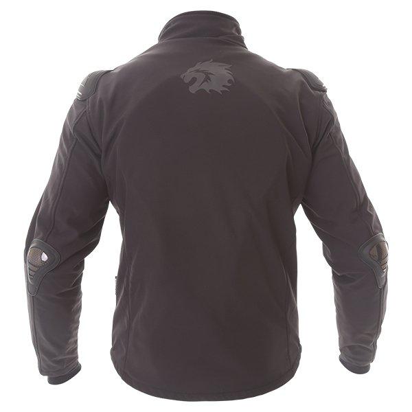 BKS Soft Shell Mens Black Textile Motorcycle Jacket Back