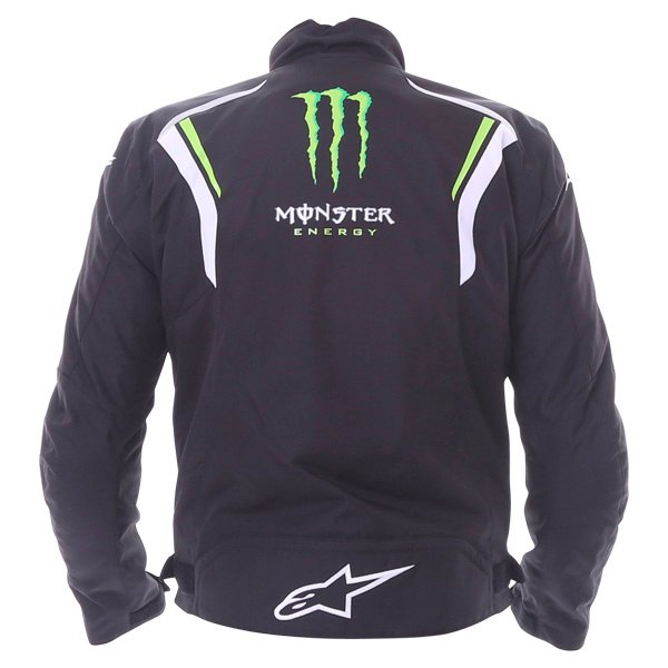 Alpinestars Spirit Monster Mens Black White Green Waterproof Textile Motorcycle Jacket Back