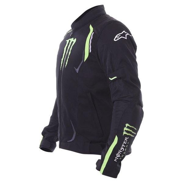 Alpinestars Juno Air Monster Mens Black Green Textile Motorcycle Jacket Side