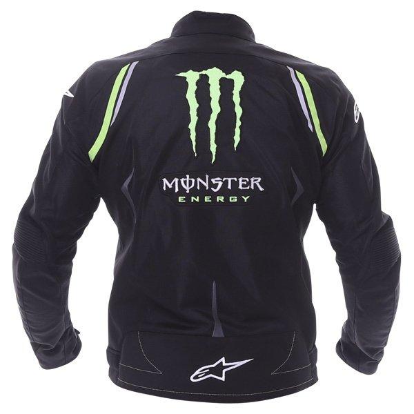 Alpinestars Juno Air Monster Mens Black Green Textile Motorcycle Jacket Back