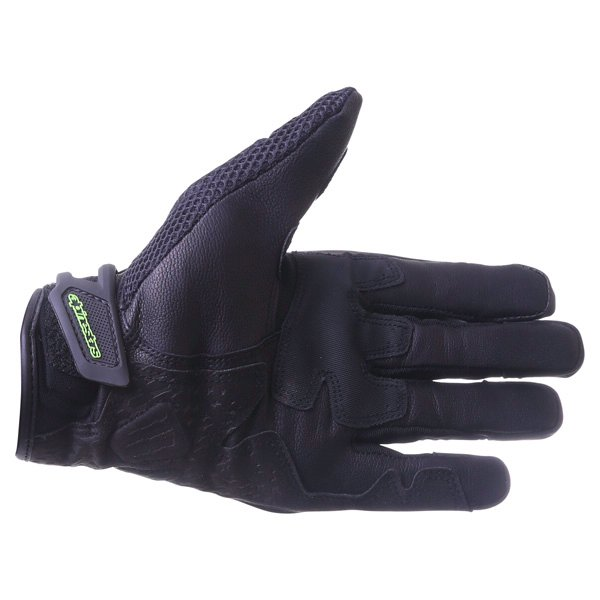 Alpinestars MX-10 Air Monster Black Green Motorcycle Gloves Palm