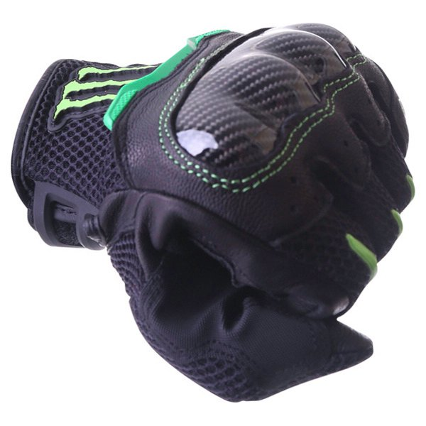 Alpinestars MX-10 Air Monster Black Green Motorcycle Gloves Knuckle