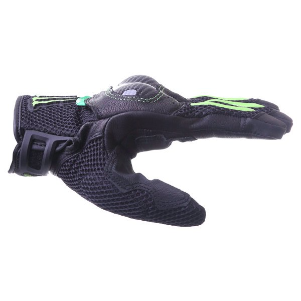 Alpinestars MX-10 Air Monster Black Green Motorcycle Gloves Thumb side