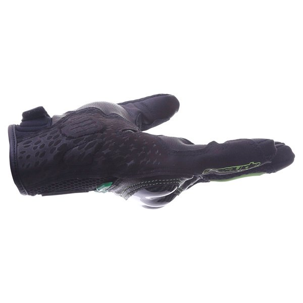 Alpinestars MX-10 Air Monster Black Green Motorcycle Gloves Little finger side