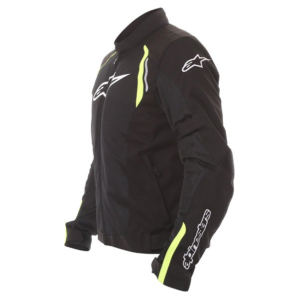 Alpinestars AST Air Mens Black Fluo Yellow Textile Motorcycle Jacket Side