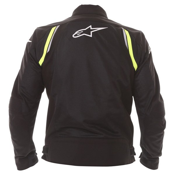 Alpinestars AST Air Mens Black Fluo Yellow Textile Motorcycle Jacket Back