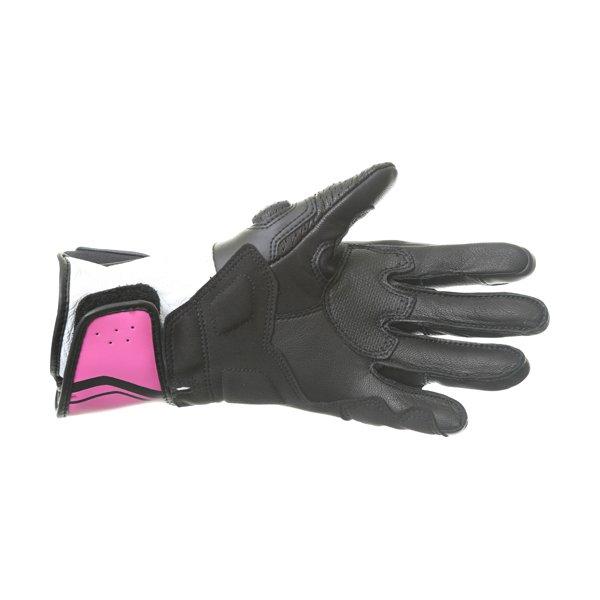 Alpinestars SP-8 V2 Ladies Black White Fuchsia Motorcycle Gloves Palm