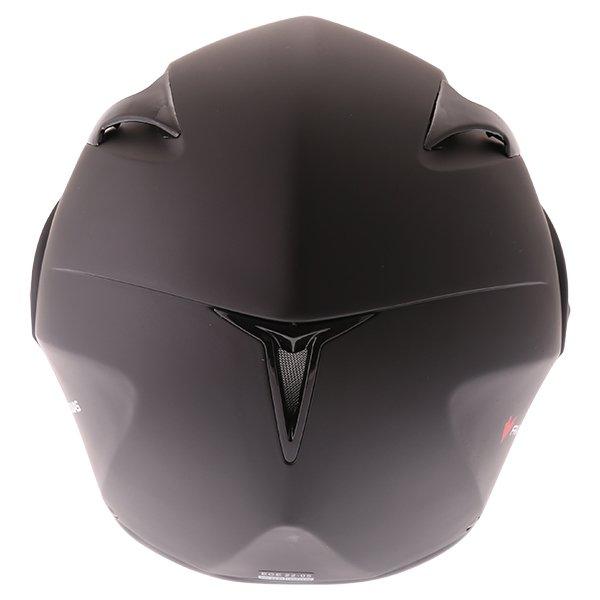 Frank Thomas FLH01 Matt Black Flip Front Motorcycle Helmet Back