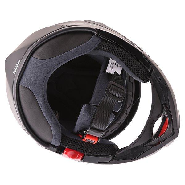 Frank Thomas FLH01 Matt Black Flip Front Motorcycle Helmet Right Side