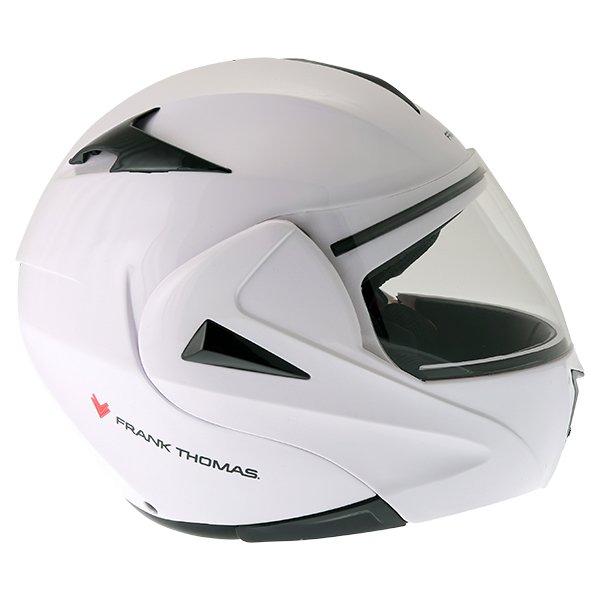 Frank Thomas FLH01 White Flip Front Motorcycle Helmet Right Side