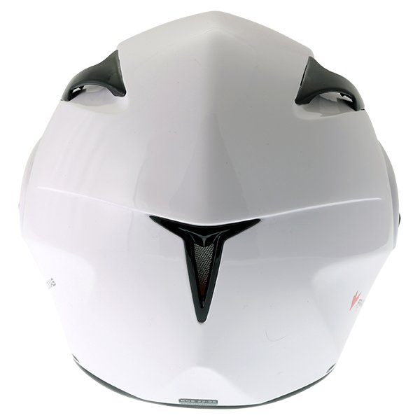 Frank Thomas FLH01 White Flip Front Motorcycle Helmet Back