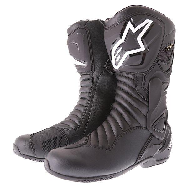Alpinestars SMX 6 V2 Goretex Black Waterproof Motorcycle Boots Pair