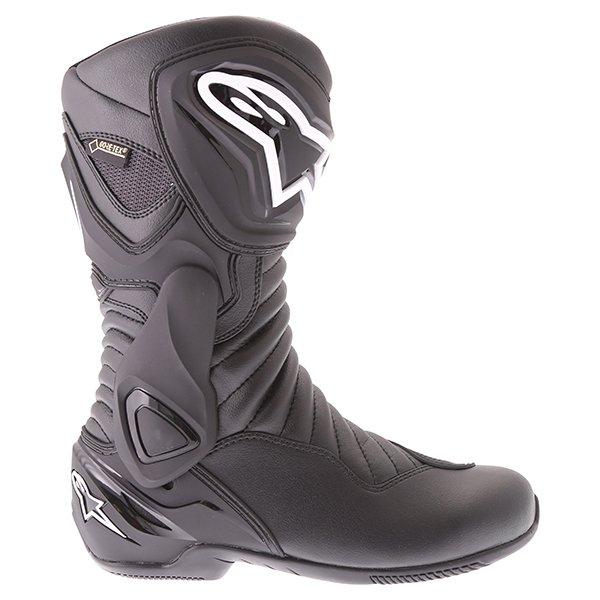 Alpinestars SMX 6 V2 Goretex Black Waterproof Motorcycle Boots Outside leg