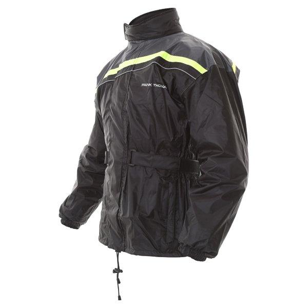 Frank Thomas Dallas Black Yellow Waterproof Over Jacket Side