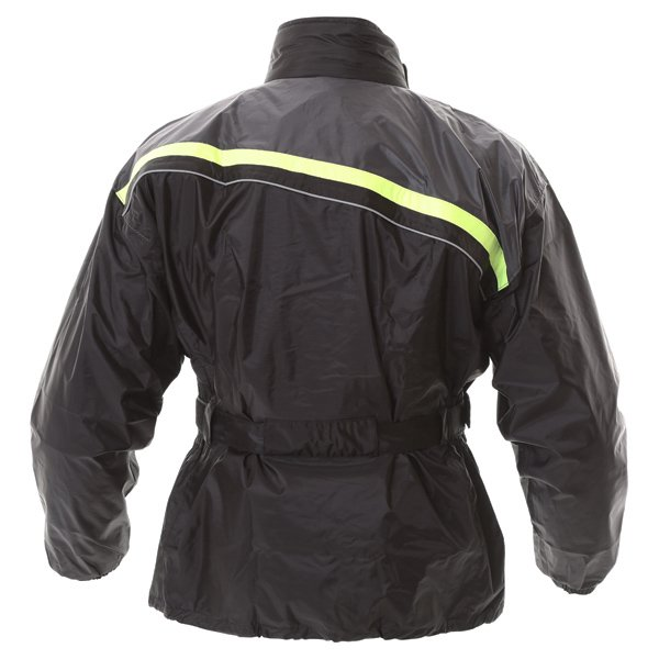 Frank Thomas Dallas Black Yellow Waterproof Over Jacket Back