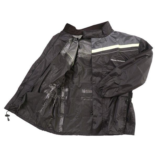 Frank Thomas Dallas Black Yellow Waterproof Over Jacket Inside