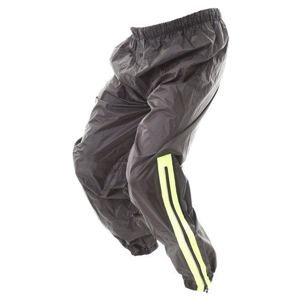 Frank Thomas Dallas Black Yellow Waterproof Over Pants Side