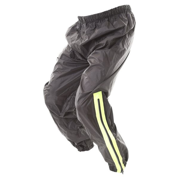 Frank Thomas Dallas Ladies Black Yellow Waterproof Over Pants Side