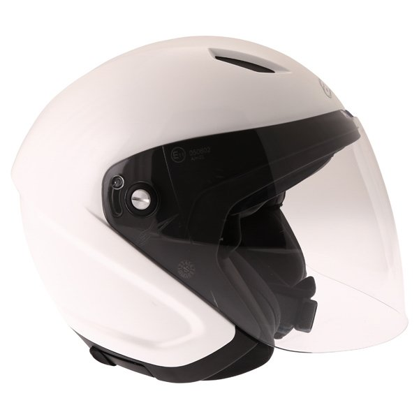 Alpinestars Novus White Open Face Motorcycle Helmet Right Side