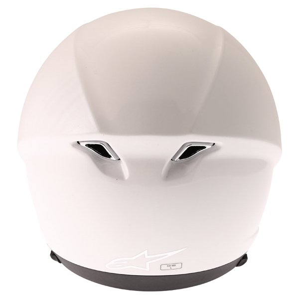 Alpinestars Novus White Open Face Motorcycle Helmet Back