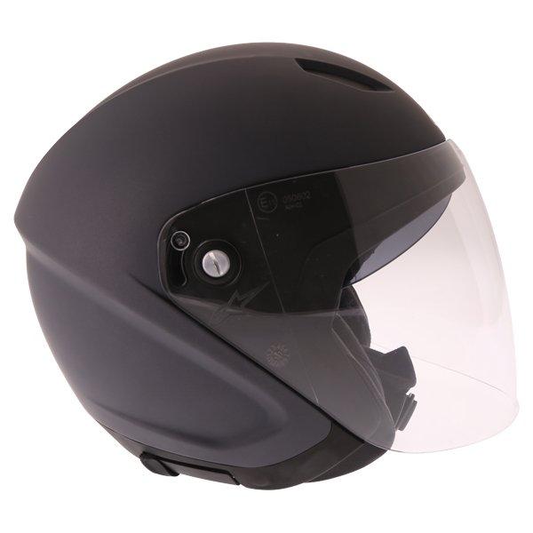 Alpinestars Novus Matt Black Open Face Motorcycle Helmet Right Side