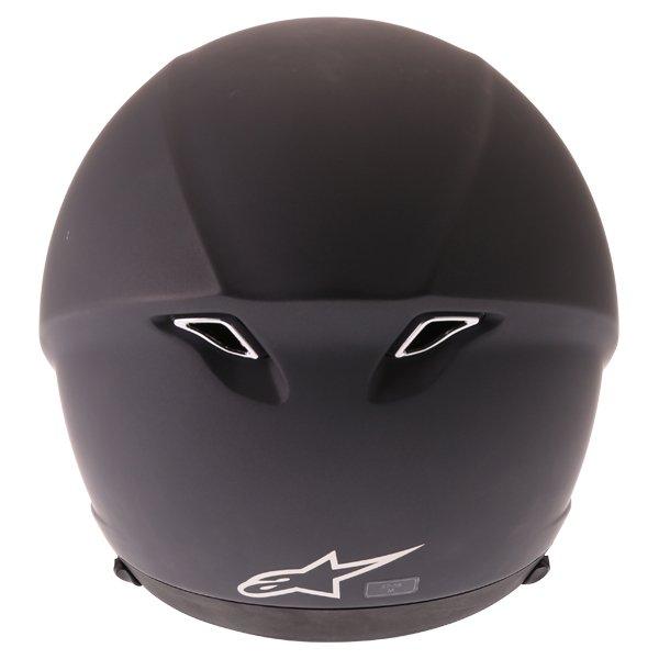 Alpinestars Novus Matt Black Open Face Motorcycle Helmet Back
